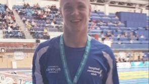 Longford's other swimming star Gerry Quinn wins a Silver medal in the 200m Freestyle at the Irish Open