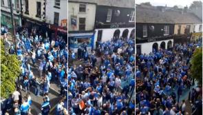 WATCH: Gardai prepared to close busy Portlaoise road as Dublin GAA fans set to descend