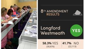 Referendum 2018 RESULT: 58% of Longford/Westmeath electorate votes to repeal Eighth Amendment