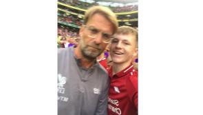 Young Longford soccer fan delighted to meet his idol, Liverpool manager Jürgen Klopp