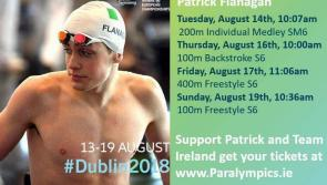 Longford's Patrick Flanagan 'really excited' about representing Team Ireland at European Para Swimming Championships