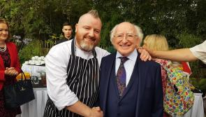 Longford celebrity chef Gary O'Hanlon feeds  Ireland's first citizen