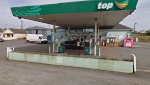 Gardaí look for clues after three man gang raid Longford filling station