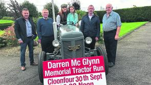 Longford public urged to line out for final Darren McGlynn Memorial Tractor Run