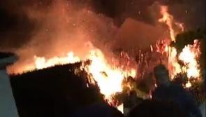 Gardaí probe cause of raging Drumlish blaze