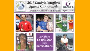 VOTE | Five in contention for Ganly's Longford Sports Star of the Month award
