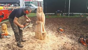Watch: Craftsman making chainsaw sculptures draws a crowd at #Ploughing17