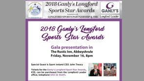 Sport Ireland CEO John Treacy will be special guest at Ganly's Longford Sports Star Awards