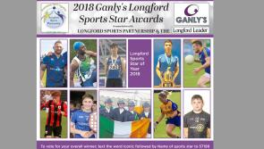 Voting time for overall 2018 Ganly's Longford Sports Star of the Year winner extended