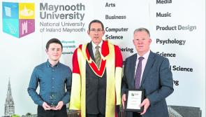 Longford student Andrew Gallagher receives Maynooth University entrance scholarship