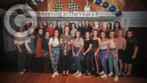 Pictures: Champion celebration in The Rustic Inn, Abbeyshrule last Friday night  as the Carrickedmond Ladies Football Club championship winning sides of 2018 and yesteryear Reel in the Years
