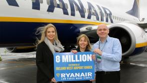 Roscommon woman is Ryanair's 8 millionth passenger at Ireland West Airport