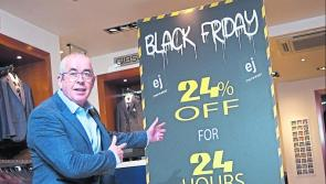 Longford shoppers spoilt for choice as Black Friday 'shopping marathon' set to get underway at EJ Menswear