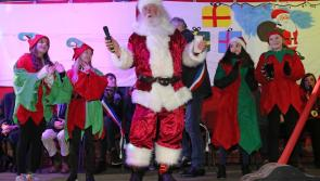 Lots of festive cheer in Longford as Santa switches on Christmas lights