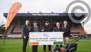 Longford Town FC presented with Pitch of the Year Award 2018