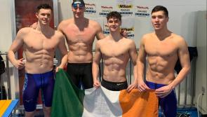 Longford swimmer Darragh Greene and Ireland's 4 x100m medley relay team in record breaking form