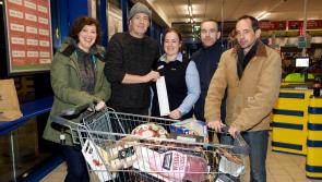 Harry Hall's free Christmas shopping spree during Lidl Longford Trolley Dash