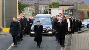 LISTEN | Son tells mourners that former Longford TD, late Peter Kelly always believed he was born under a lucky star