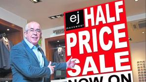 Half price Winter Sale event at EJ Menswear