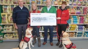 Maxi Zoo customers in Longford help raise €25,650 to provide assistance dogs for children with Autism