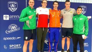 Longford swimmer Darragh Greene wins three medals at Flanders Cup in Belgium