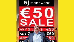 €50 goes a long way at ej menswear
