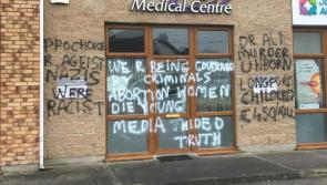 Midlands GP clinic defaced with anti-abortion graffiti
