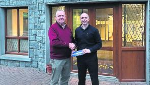 PHOTO | Kiernan Milling present a cheque for €6,800 to Mullinalaghta