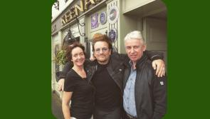 A special St Patrick's weekend guest: Keenan's of Tarmonbarry welcomes U2 front man Bono