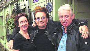 The 'Sweetest Thing' as Bono  visits Keenan's in Tarmonbarry