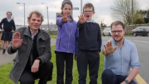 Kenagh switches on brand new solar speed sign in campaign to get drivers to slow down