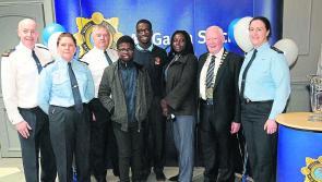 Moyne Community school's Eric Ehigie honoured at National Garda Youth awards