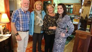 Mary McAleese filming religious series for RTÉ in Dundalk