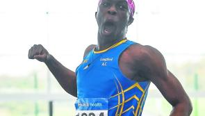 Another National title for Longford's Nelvin Appiah in winning the Gold medal in the Junior Men's High Jump