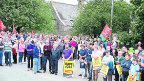 United front: Political representatives rally in Lanesboro in  support of Bord na Móna workers out of jobs