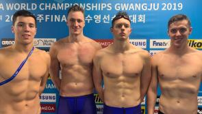 Longford's Darragh Greene helps medley relay team achieve Irish record at FINA World Swimming Championships in South Korea