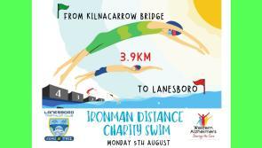 Lanesboro Triathlon Club Ironman distance charity swim in aid of The Alzheimer Society of Ireland