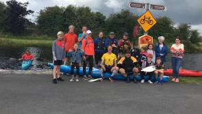 Runners and kayakers make their way from Dublin to Clondra in Royal Canal 144km