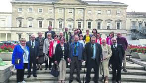 Longford members of Farrell Clan welcomed to Leinster House