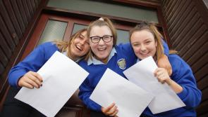 GALLERY| Delight for Longford students collecting junior cert results