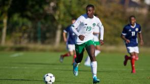 Former Melview FC playerJames Abankwah lines out with Republic of Ireland U16 side