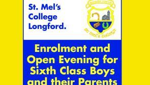 St Mel's College, Longford Enrolment and Open Evening on November 19