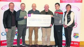 Abbeylara GAA raise  €750 for St Christopher's Services