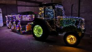 'Drive into the night' at the Abbeyshrule Christmas tractor run