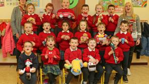 GALLERY| Huge excitement as Gaelscoil Longfoirt prepare for arrival of the man in red