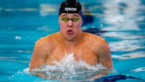 Longford's Darragh Greene swimming for Ireland at the European Championships