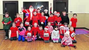 PICTURES | Festive fun for St Mary's NS Newtowncashel Santa Fun Run