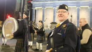 Longford Pipe Band rings in new year in style