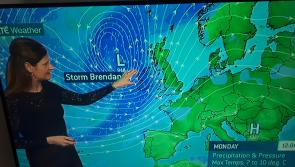 Storm Brendan Met Éireann weather update has snow in the forecast after the storm passes