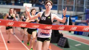 Longford athletics star Cian McPhillips announces himself on  world stage by winning  Invitational mile at Millrose Games in New York